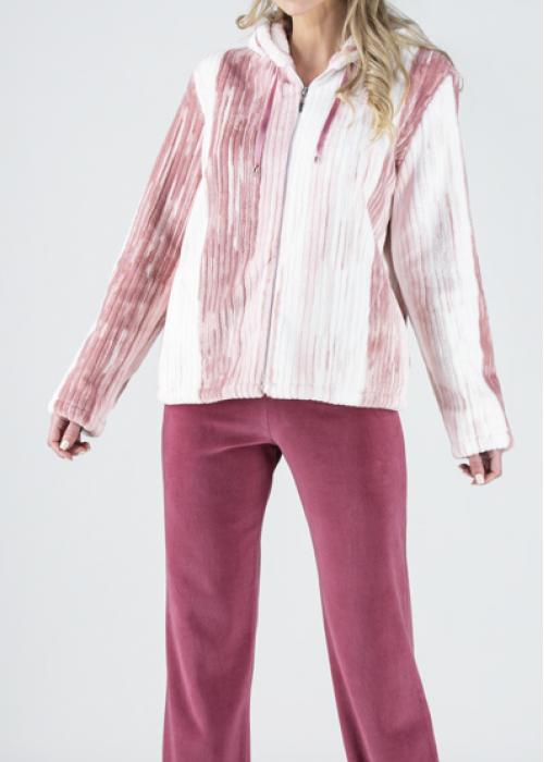 Relax Πυτζάμες με κουκούλα σε χρώμα ροζ - relax-009