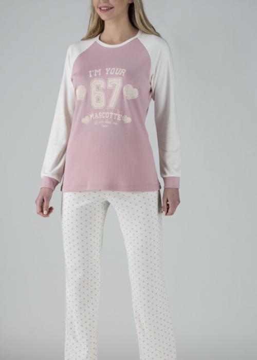Relax Πυτζάμες σε χρώμα ροζ-άσπρο - relax-037